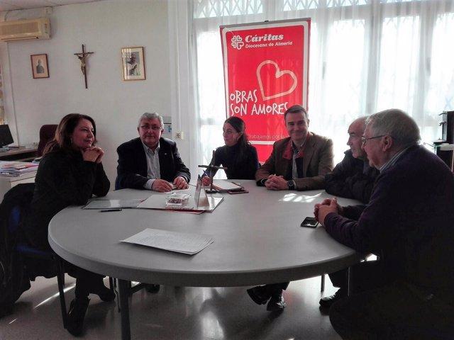 Parlamentarios andaluces se reúne con Cáritas
