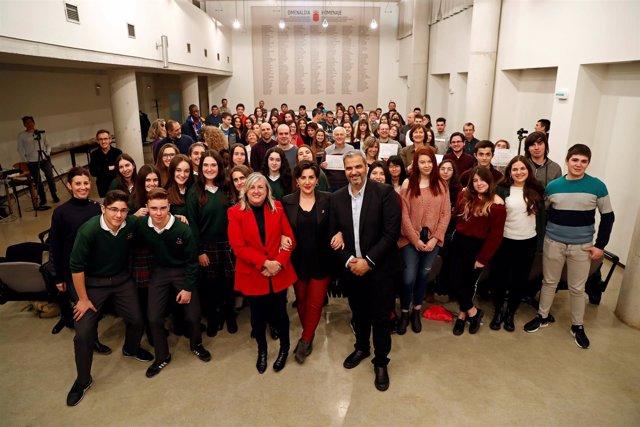 Foto de grupo de todos los integrantes de los proyectos Etwinning reconocidos