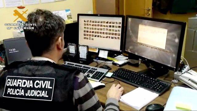 Operación de la G. Civil contra la pornografía