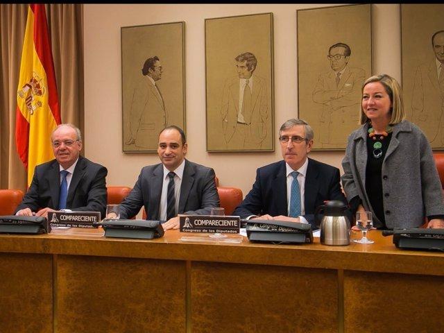 El presidente de Caixa d'Estalvis de Pollença, Josep Antoni Cifre,en el Congreso
