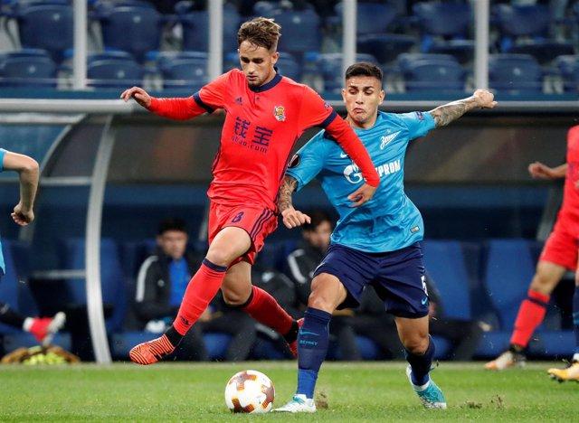 Januzaj en el Zenit-Real Sociedad