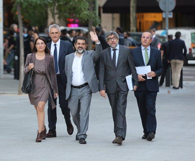 Jordi Sánchez llega a la Audiencia Nacional