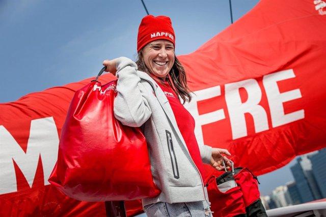 La regatista española Támara Echegoyen se prepara para la sexta etapa de la VOR