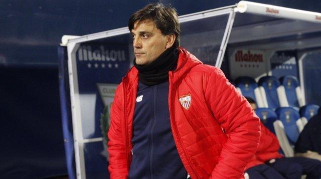 El entrenador del Sevilla, Vincenzo Montella