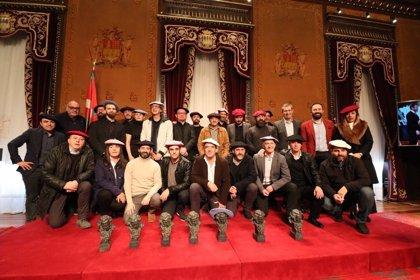 Diputación de Gipuzkoa recibe al equipo de la película 'Handia'