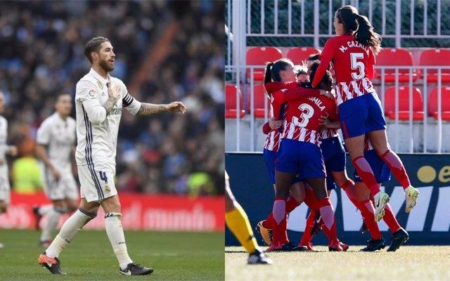 Sergio Ramos y Atlético de Madrid Femenino
