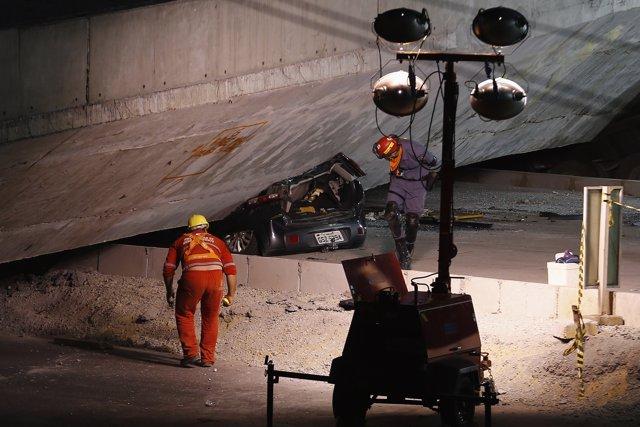 Derrumbe de puente, viaducto en Belo Horizonte