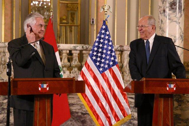 Rex Tillerson y Pedro Pablo Kuczynski