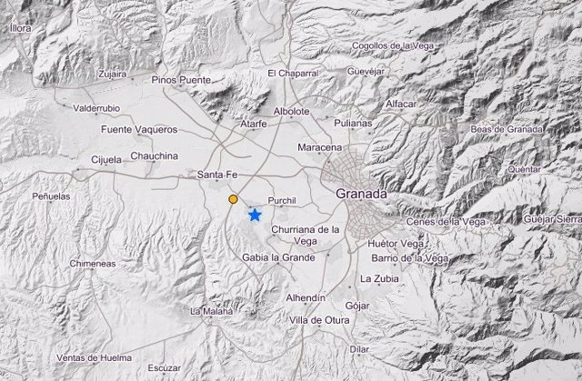 Imagen del Instituto Geográfico Nacional sobre el terremoto en Santa Fe