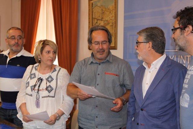 El alcalde, Francisco Guarido, durante el acto.