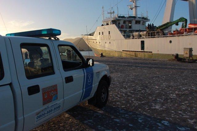 El pesquero Playa Pesmar Uno apresado por Argentina en el puerto de Comodoro