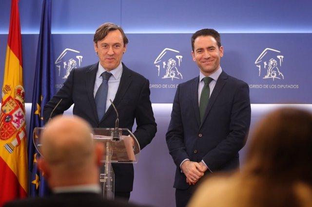 Rafael Hernando y Teodoro García Egea
