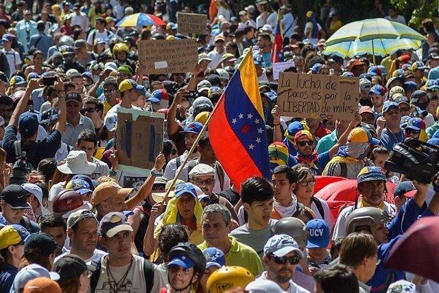 Manifestaciones oposición venezuela