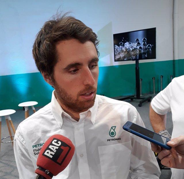 Dani Juncadella atiende a los medios