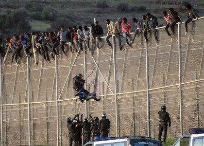 IU quiere que Zoido explique en el Congreso la instalación de concertinas en la valla del puerto de Melilla
