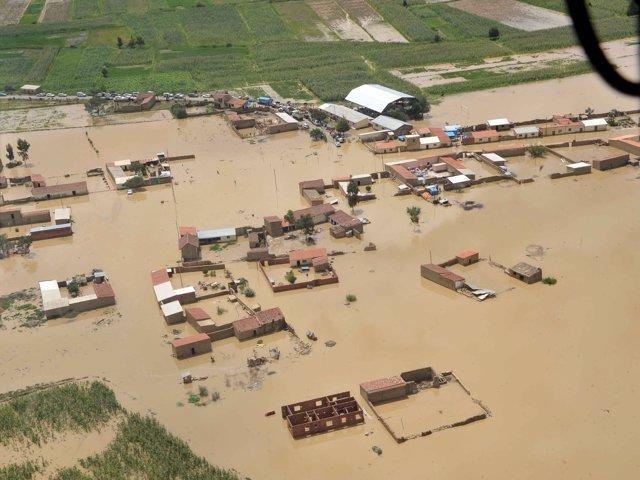 Inundaciones en el municipio de  Cliza (Cochabamba)