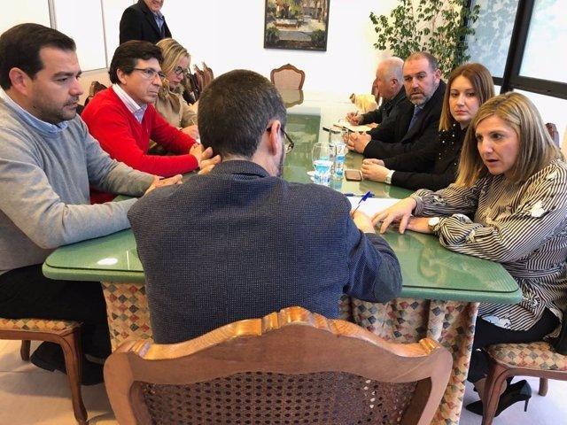 Reunión Diputación de Cádiz con Ayuntamiento de La Línea