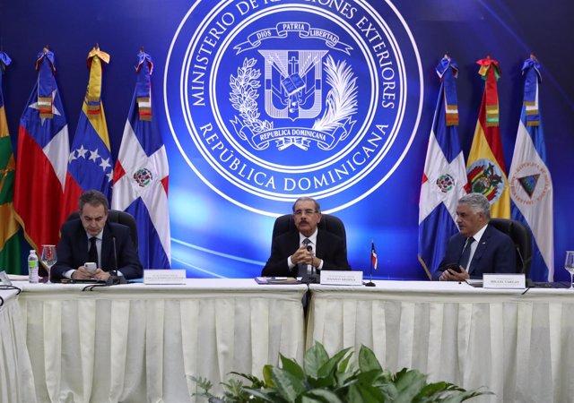 José Luis Rodríguez Zapatero, Danilo Medina y Miguel Vargas