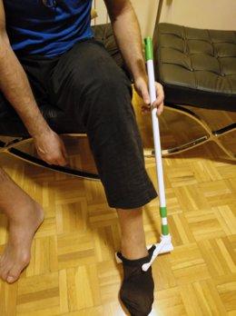 Calzador patentado por investigadores de la Universidad de Jaén.