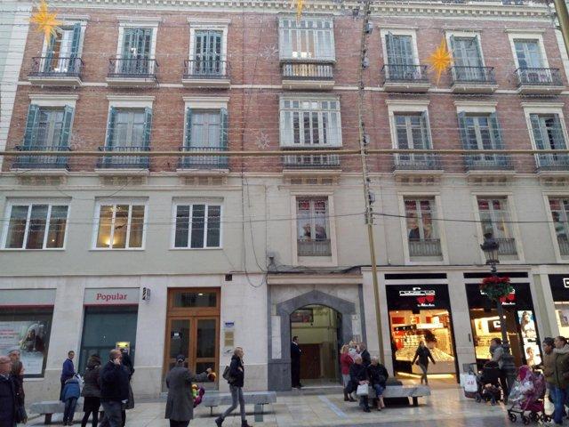 Calle Larios nuevo hotel número 10 vincci edificio turismo establecimiento