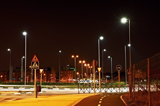 Calle de Rivas con alumbrado LED