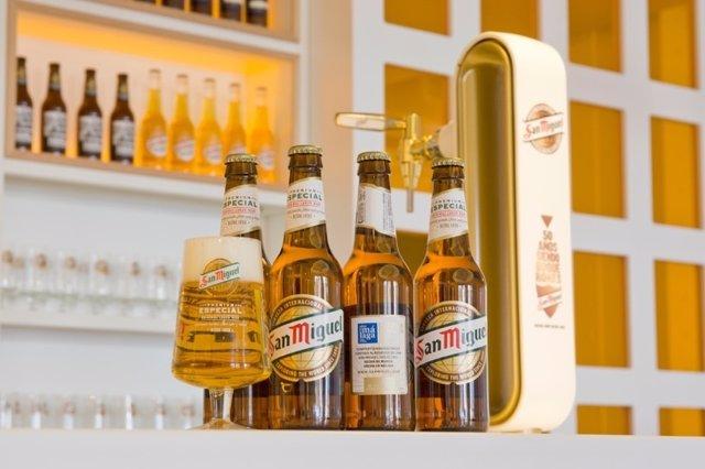 Mahoy San Miguel cerveza Especial sabor a málaga marca promoción botellines