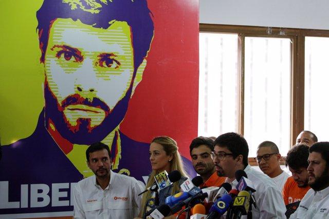 Líderes de Voluntad Popular, el partido político de Leopoldo López