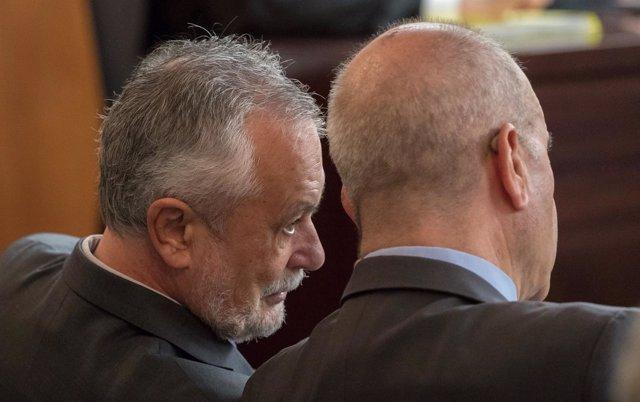 Chaves y Griñán en el juicio por los ERE