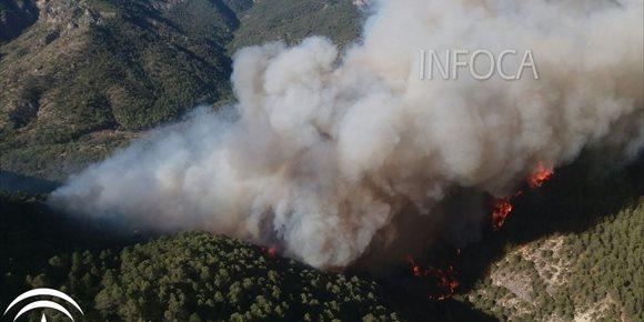 5. Gobierno ejecuta actuaciones de emergencia por los daños tras el incendio forestal producido en Segura (Jaén) en agosto