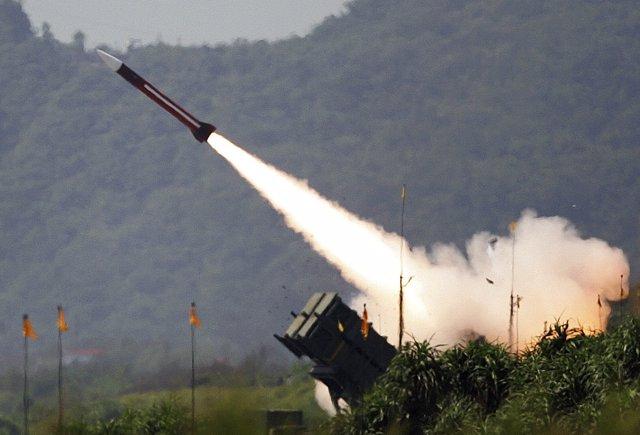 Lanzamiento de un misil en Taiwán