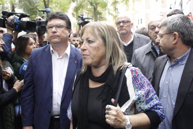 Joan Josep Nuet y Ramona Barrufet, exmiembros de la Mesa del Parlament