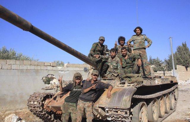 Fuerzas del régimen del presidente sirio, Bashar al Assad