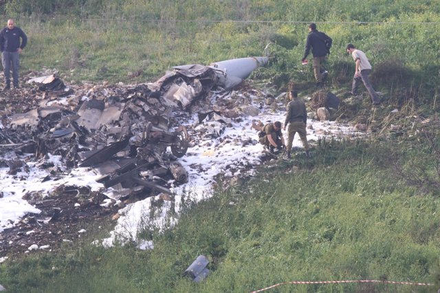 Avión israelí derribado por Siria, febrero 2018