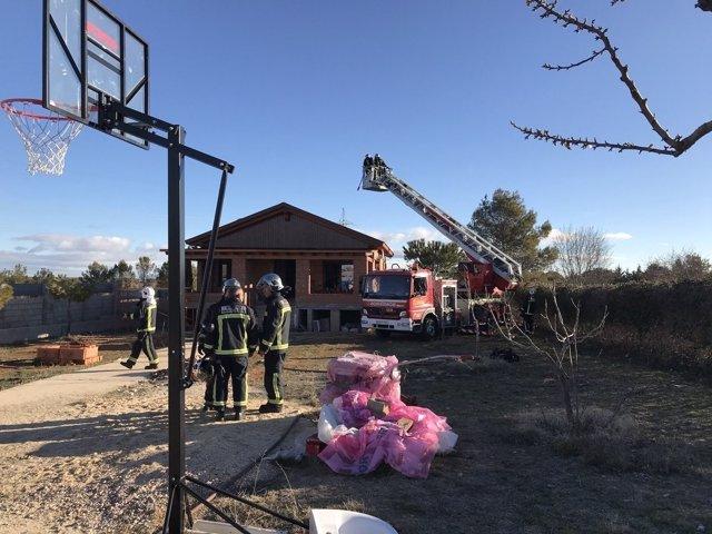 Incendio en Nuevo Baztan