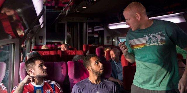 Protagonistas de 15:17 tren a París
