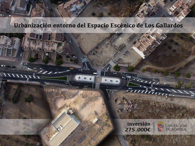El Espacio Escénico de Los Gallardos se ubica en la barriada de Huerta Nueva.