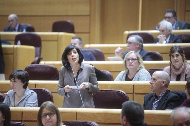 La senadora autonómica, Idoia Villanueva.