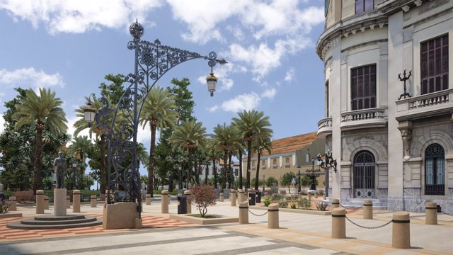 Infografía sobre cómo quedará el centro de Ceuta
