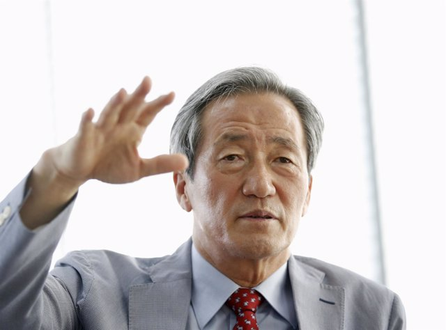 Former FIFA vice president Chung Mong-joon speaks during an interview with Reute