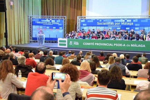 Comité provincial del PSOE de Málaga ruiz Espejo socialistas