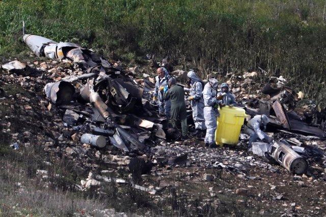 Caza F-16 israelí derribado cerca de Harduf