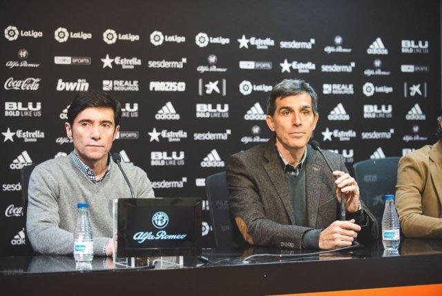 Marcelino y Muñiz en una rueda de prensa conjunta
