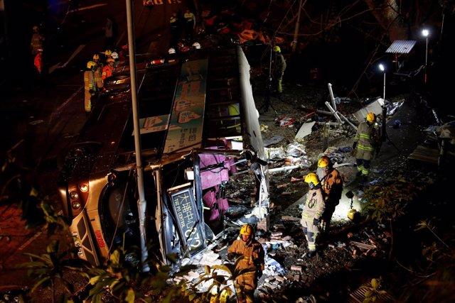 Accidente de avión en Hong Kong