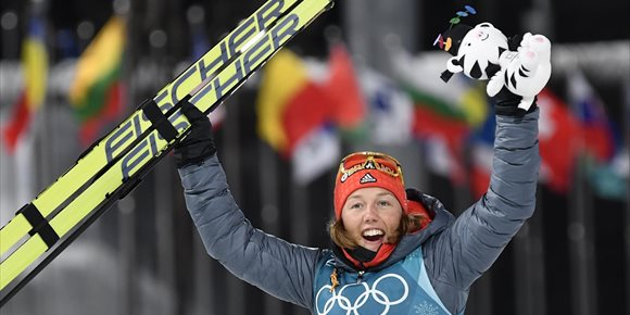 9. La alemana Dahlmeier colma su deseo olímpico con el oro en biatlón