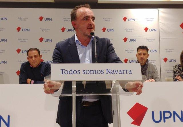 Javier Esparza en el consejo político de UPN