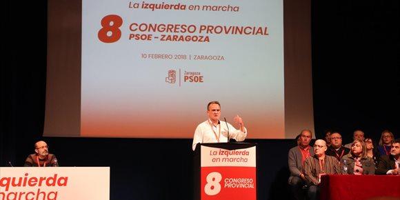 3. Sánchez Quero, nombrado secretario general del PSOE en Zaragoza con el 88,94% de los votos