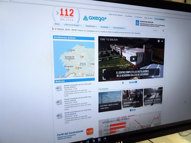 Página web 112 Galicia