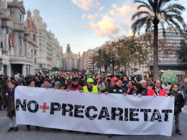 Pancarta central de la marcha
