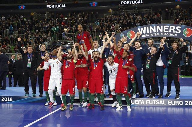 España cae en la final el fútbol sala ante Portugal
