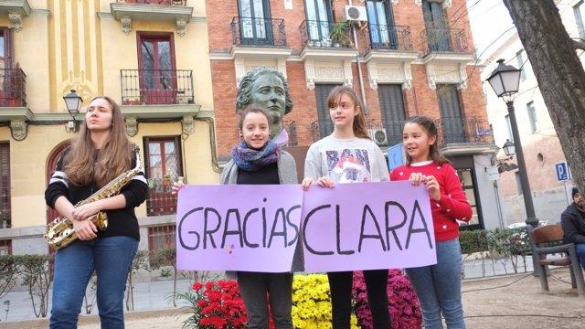 16dda9e79 El busto de Clara Campoamor regresa a Malasaña a punto de cumplirse el 130  aniversario de su nacimiento